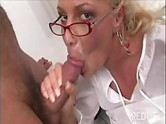 Cum Shot Compilation Of Secretaries Slurping On The Bosses Cocks And Getting Facials