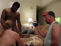 Fat Mature Amateur Fucks A Big Black Dick While Her Hubby Films It And Then He Fucks Her
