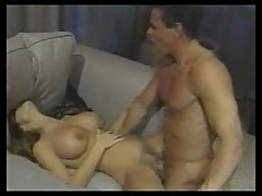 Chasey Lain and Peter North on Couch