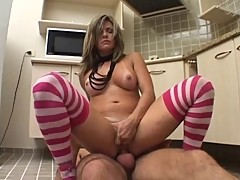 Do Brazil latin creampie kitchen pornstar