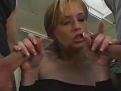 Jordan hot blond double penetrated