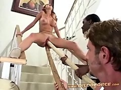 Candy apples fucks a monster dildo and gi ...