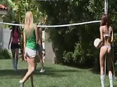 Lesbian group foursome orgy outdoor