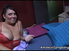 Light and heavy plumper take numerous cocks