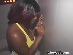 Slutty Black Amateur Fucked At Adult Bookstore Glory Hole